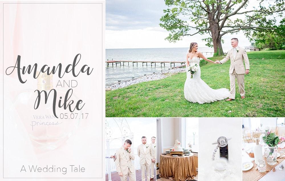 Amanda & Mike A Sparkly Tearful Bayside Wedding