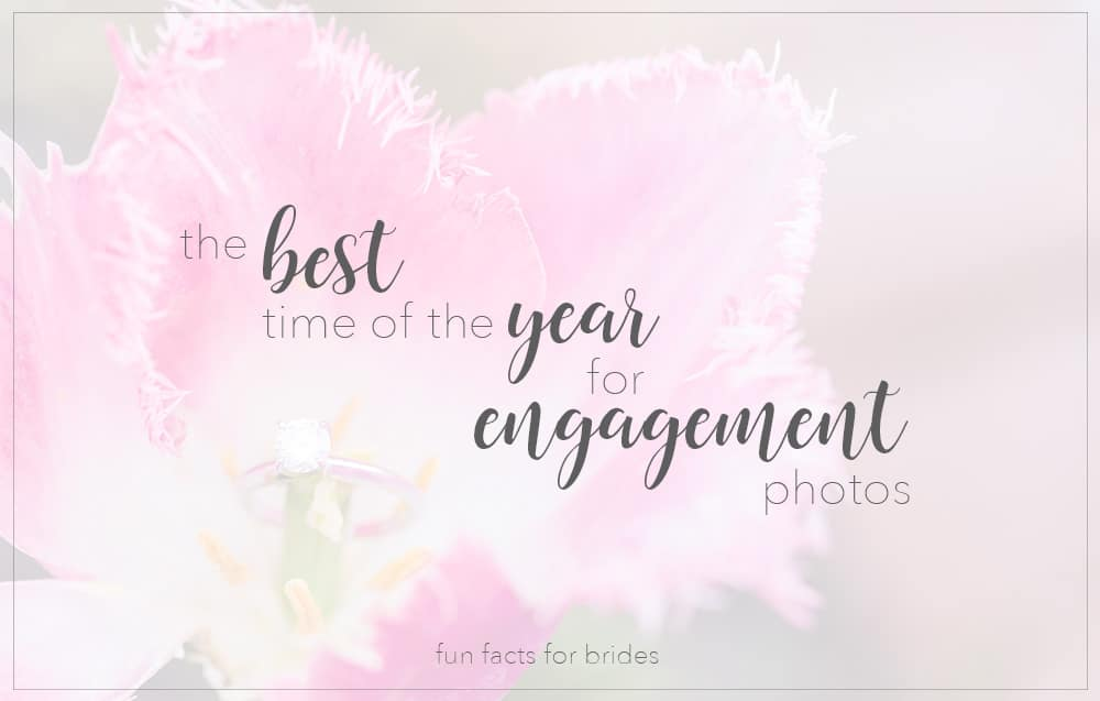 The Best Time of The Year for Engagement Photos Fun Fact Friday With Cassidy