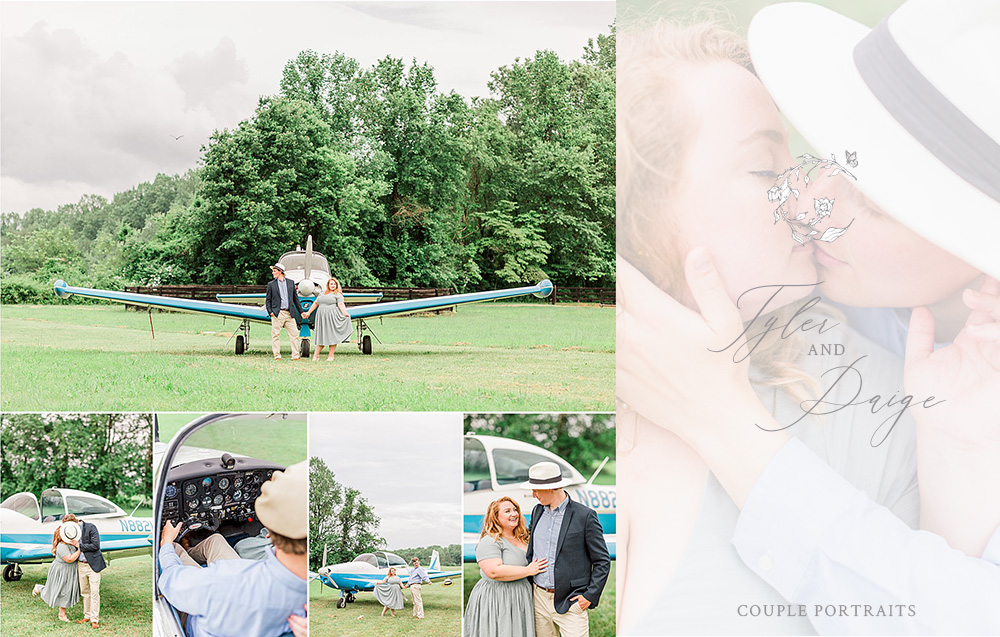 Tyler and Paige | 1940s Plane Couple Portraits